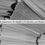 importance of letterhead to your business